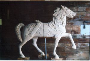Michael's finished Indian pony in primer.