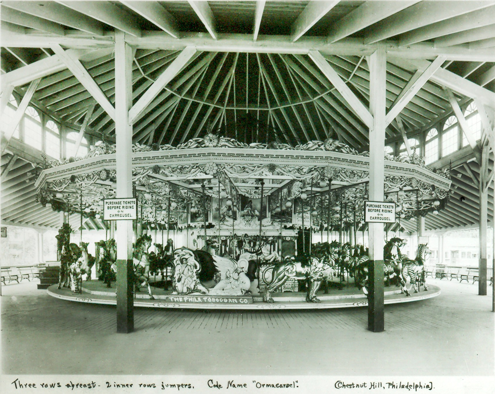1906-PTC-12-Carousel-Chestnut-Hill-PA-Crystal-Beach-CN
