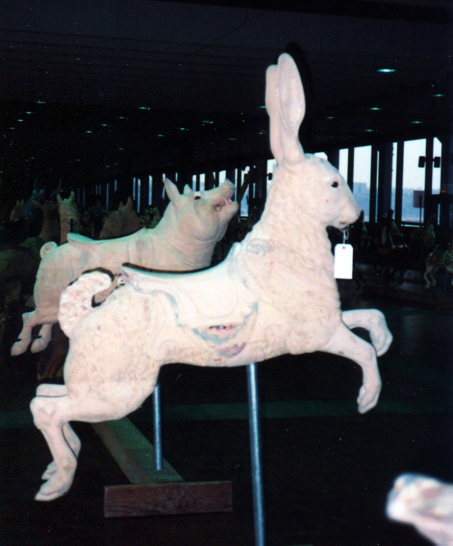 Antique-Dentzel-carousel-rabbit-Great-Escape-Fun-Park