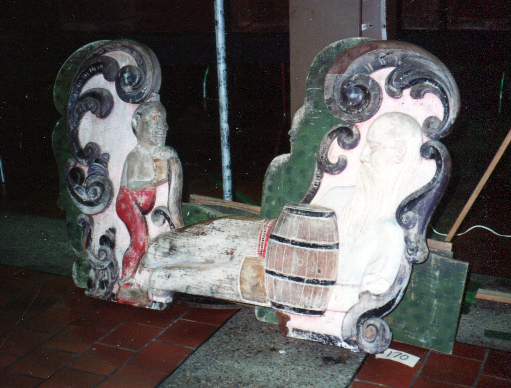 Antique-carousel-chariot-Guernsey-auction-1989