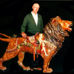 Bud-Hurlbut-with-Dentzel-lion-from-Norton-brochure