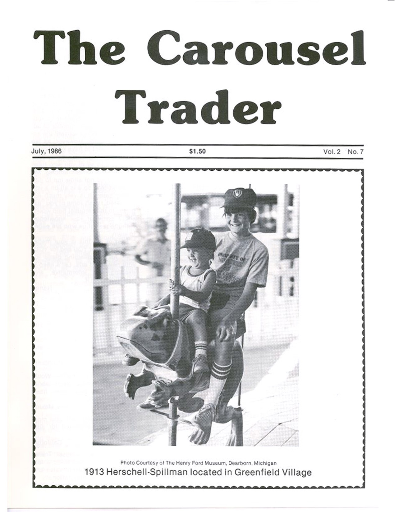 Carousel-News-07_1986-cover-Henry-Ford-Museump-Greenfield-Village