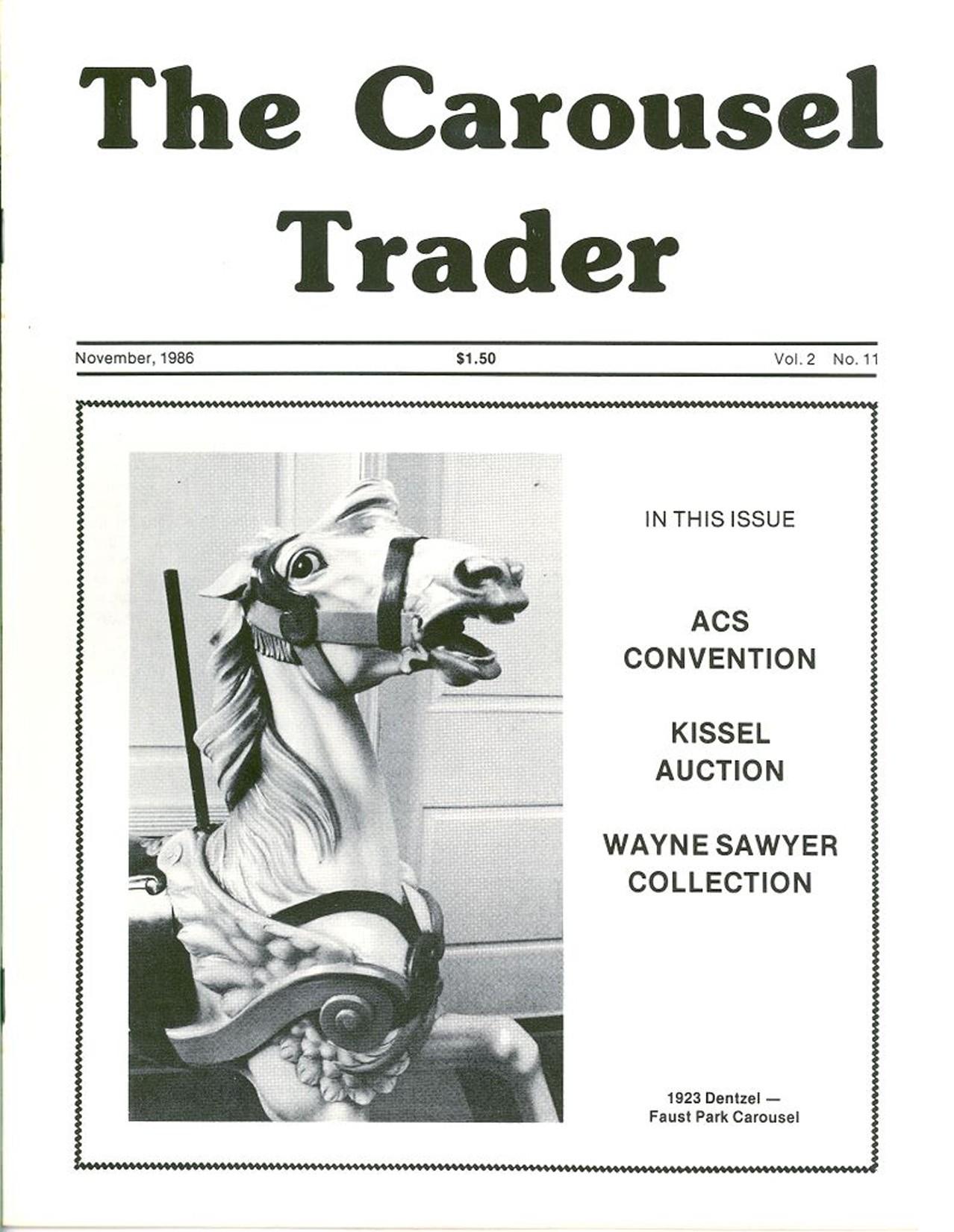 Carousel-News-11_1986-cover-1923-Dentzel-horse-Faust-Park