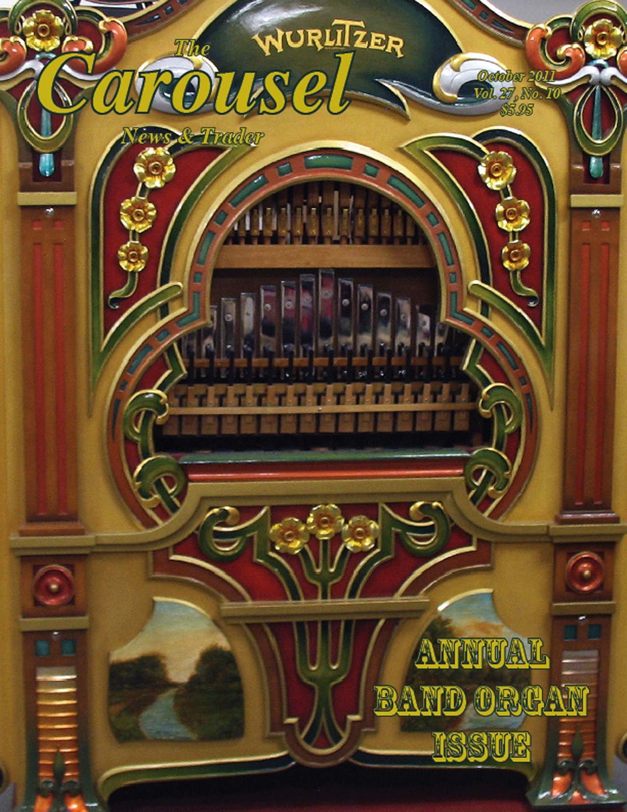 Carousel-news-cover-10-Norumbega-Park-Wurlitzer-146-carousel-band-organ-October-2011
