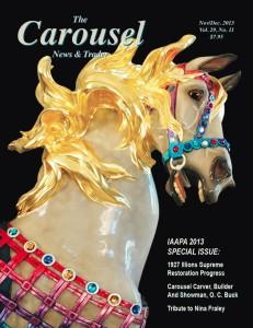 Carousel-news-cover-11-12-Restored-Illions-Supreme-carousel-horse-Nov-Dec-2013
