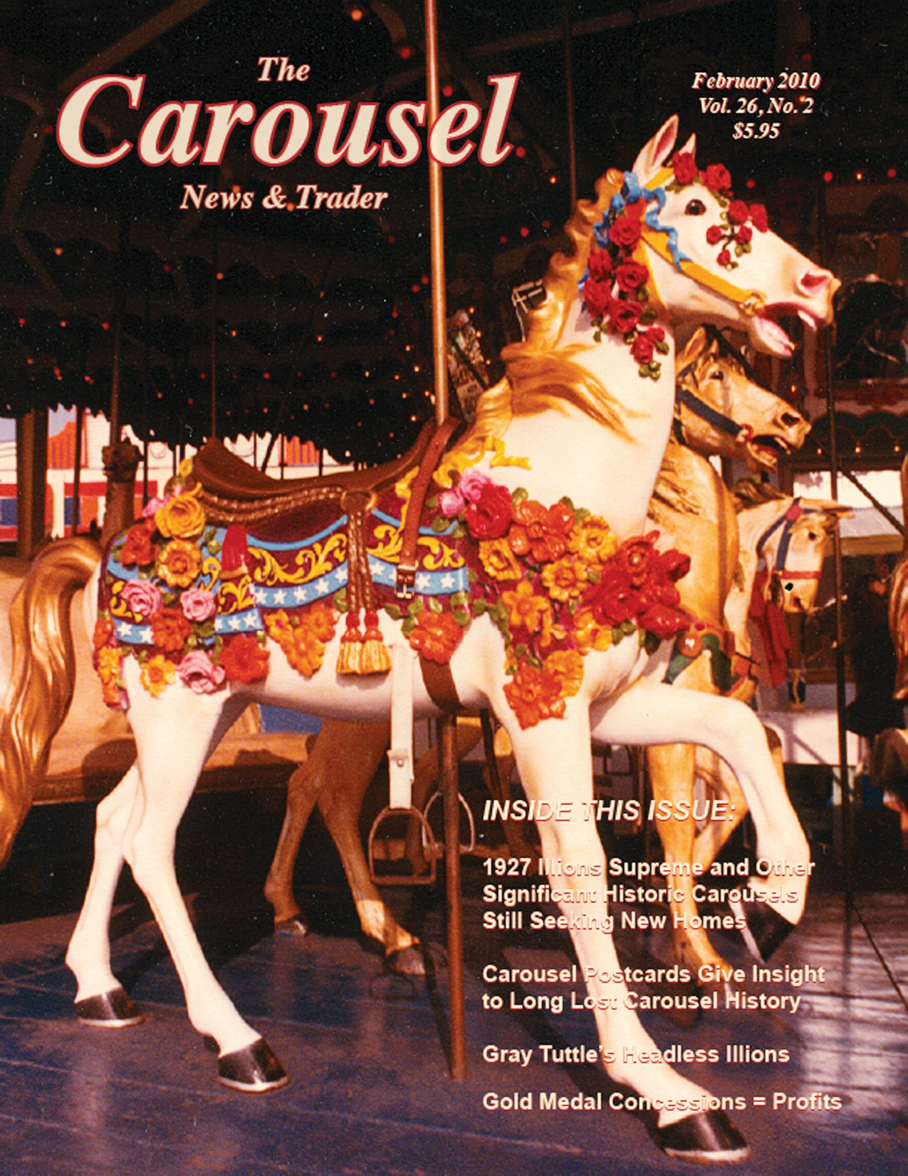 Carousel-news-cover-2-Illions-Supreme-carousel-Rose-Horse-Feb-2010