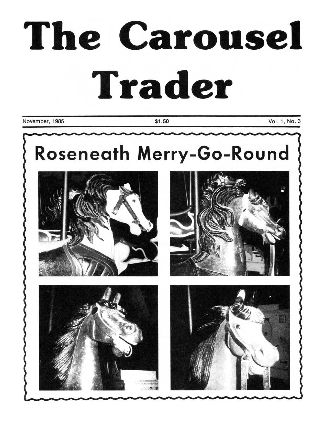 Carousel-news-cover-v1n3-Roseneath-merry-go-round-November-1985