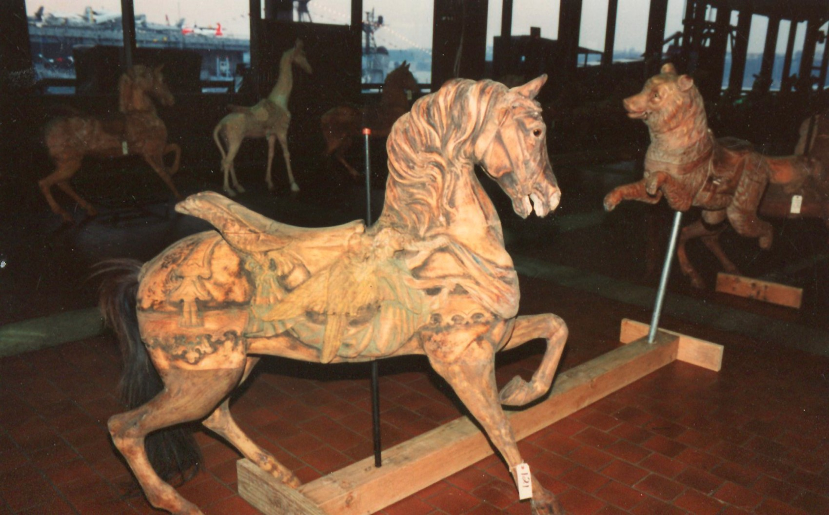 Dentzel-carousel-animals-Great-Escape-Fun-Park-NYC-auction-1989