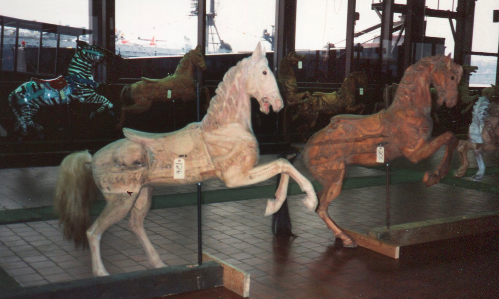 Dentzel-carousel-horses--from-Great-Escape-Fun-Park-NYC-auction-1989