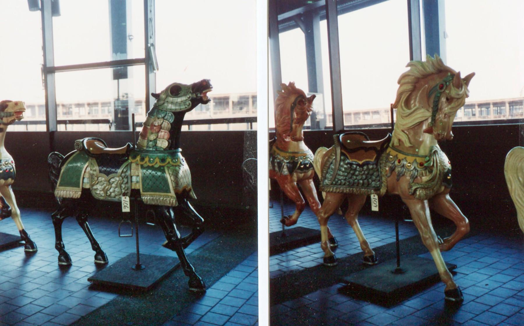 Eldridge-Park-Elmira-Carmel-carousel-horses-Guernsey-auction-1989