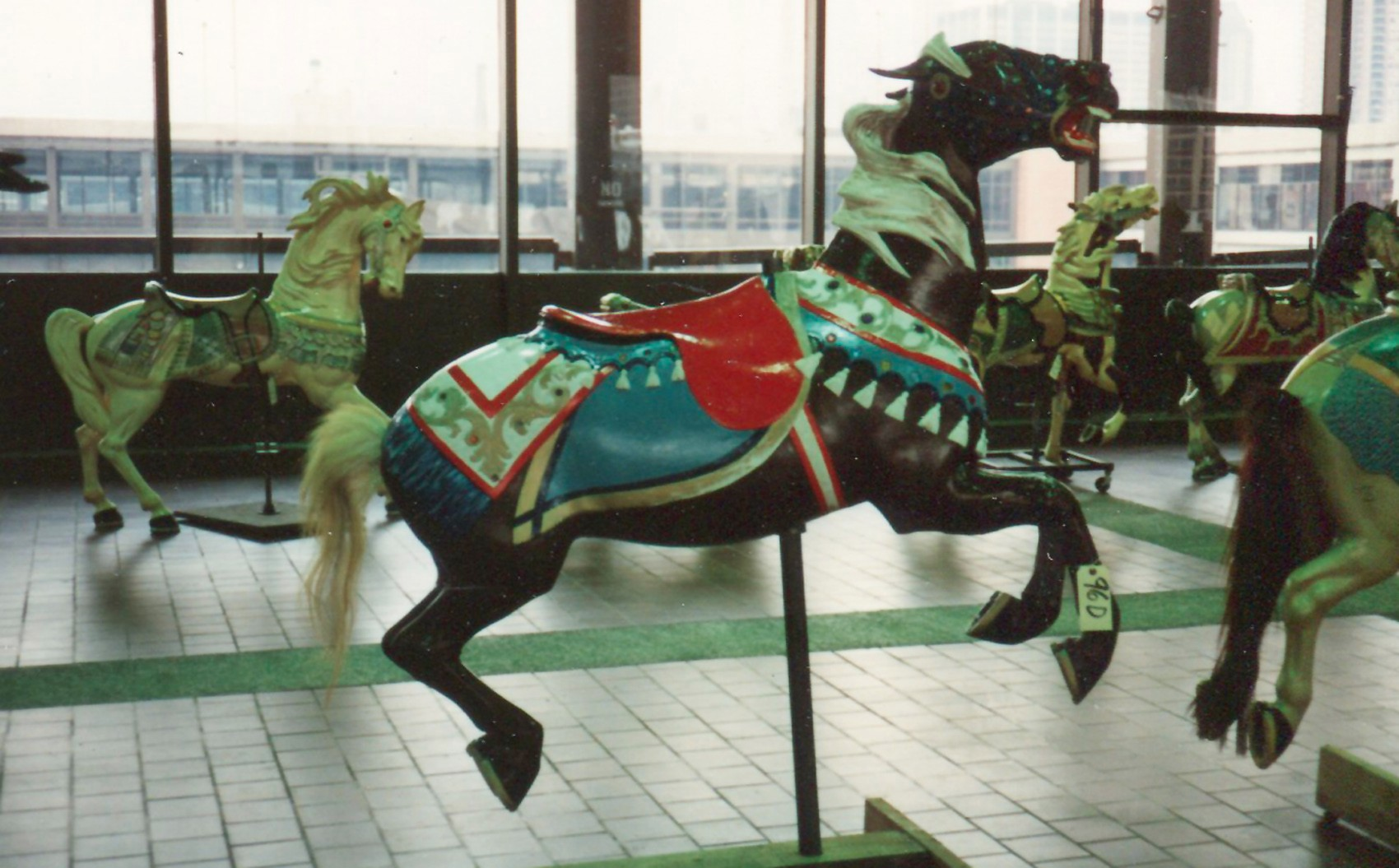 Elmira-carmel-seaside-Illions-carousel-horses-nyc-1989