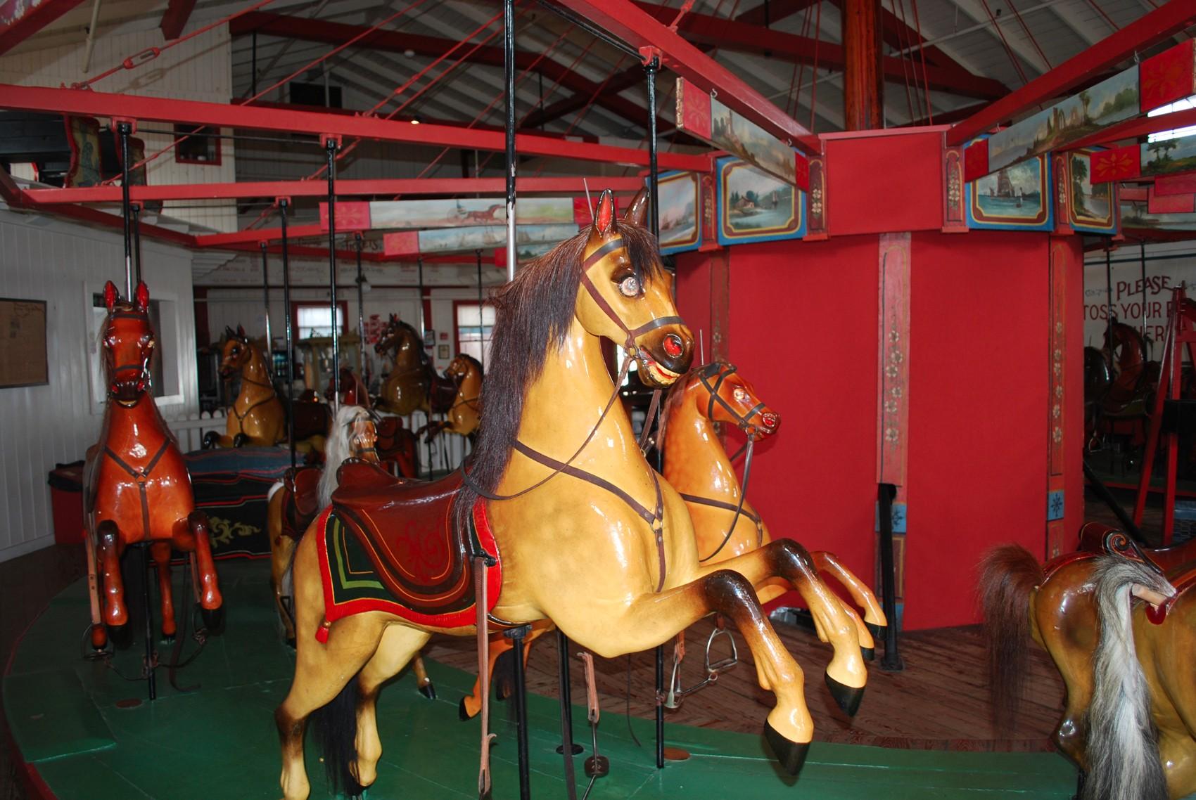 Historic-Marthas-Vineyard-Flying-Horses-carousel-4