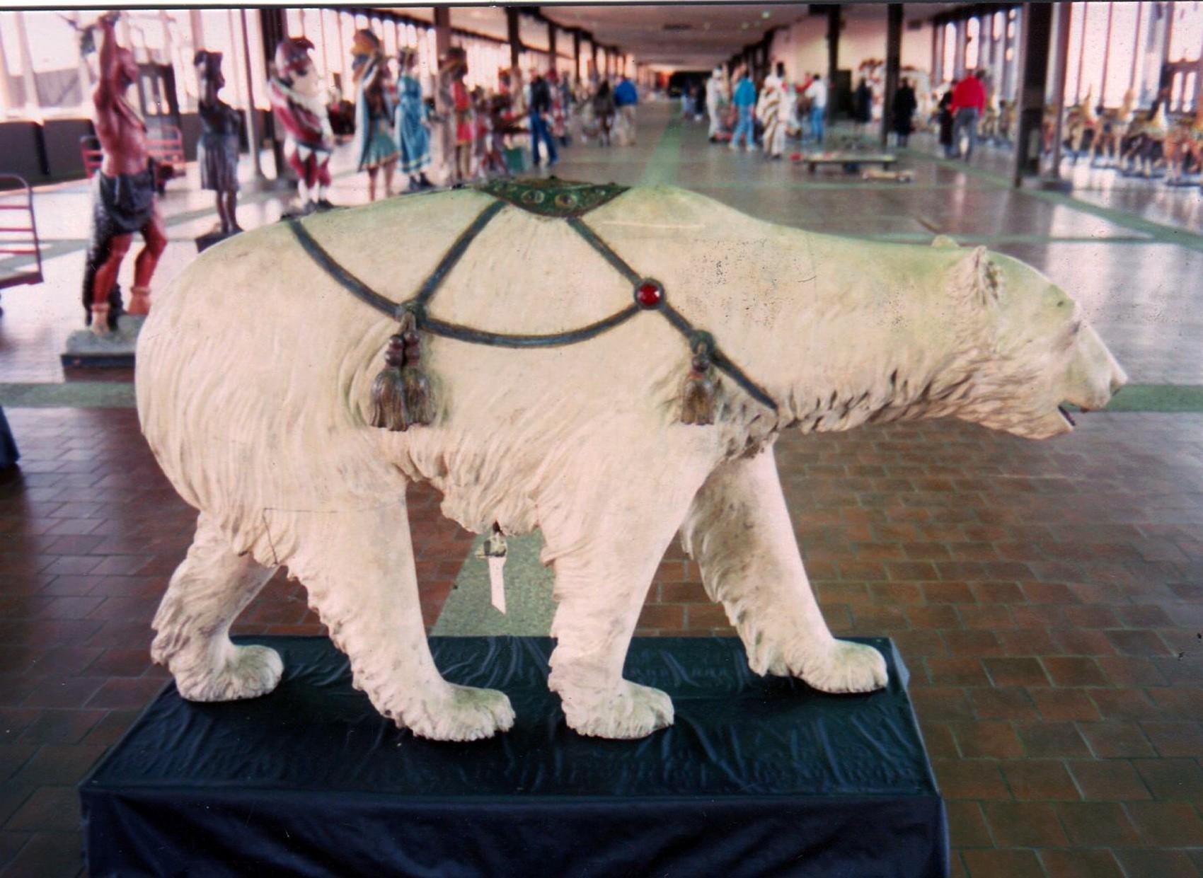Rare-Allan-Herschell-carousel-polar-bear-Guernseys-1989