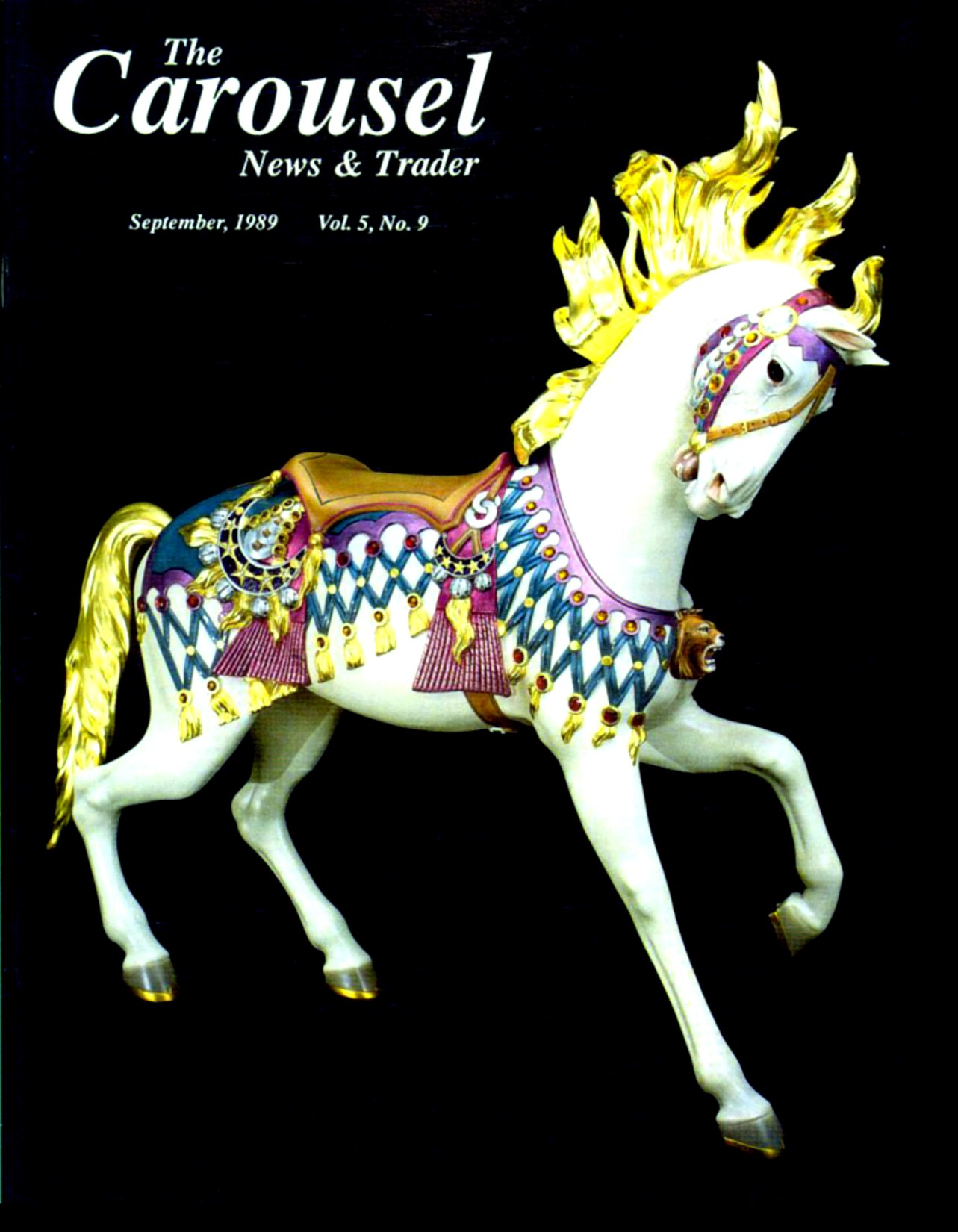 cnt_09_1989-cover-Illions-Fun-Forest-101-thousand-dollar-carousel-horse