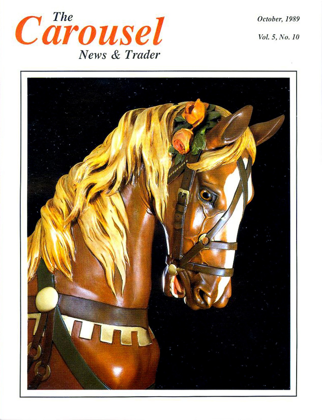 cnt_10_1989-cover-rare-Dentzel-carousel-horse-flowered-bridle
