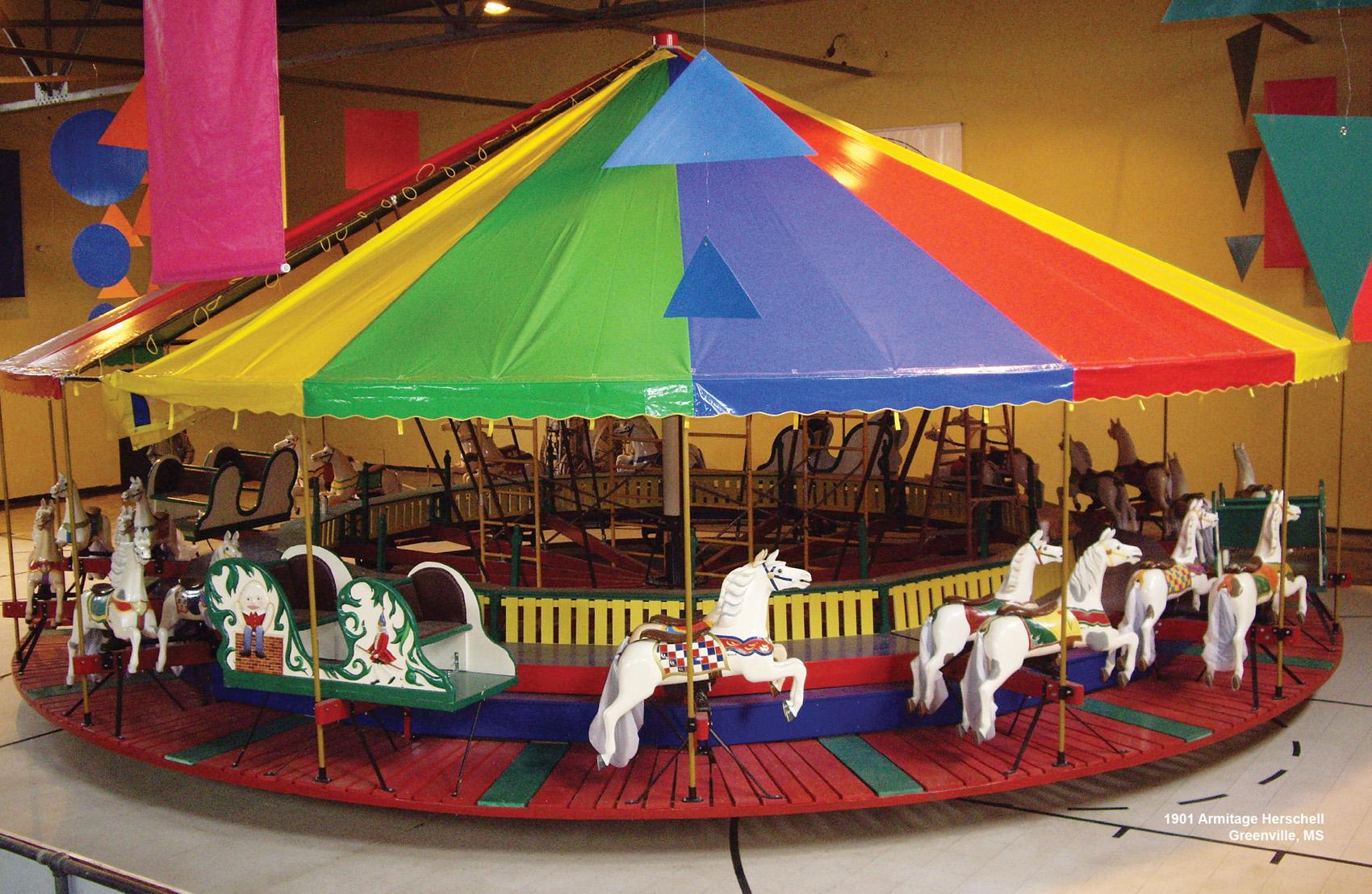 1901-Armitage-Herschell-carousel-Greenville-MS-CNT-center-Apr-07