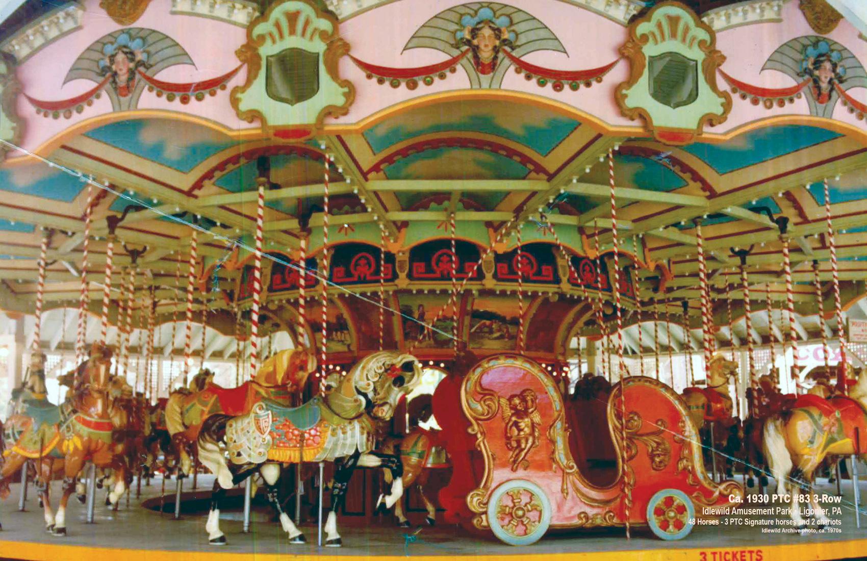 1930-PTC-83-carousel-Idlewild-Park-PA-CNT-center-Jan-13