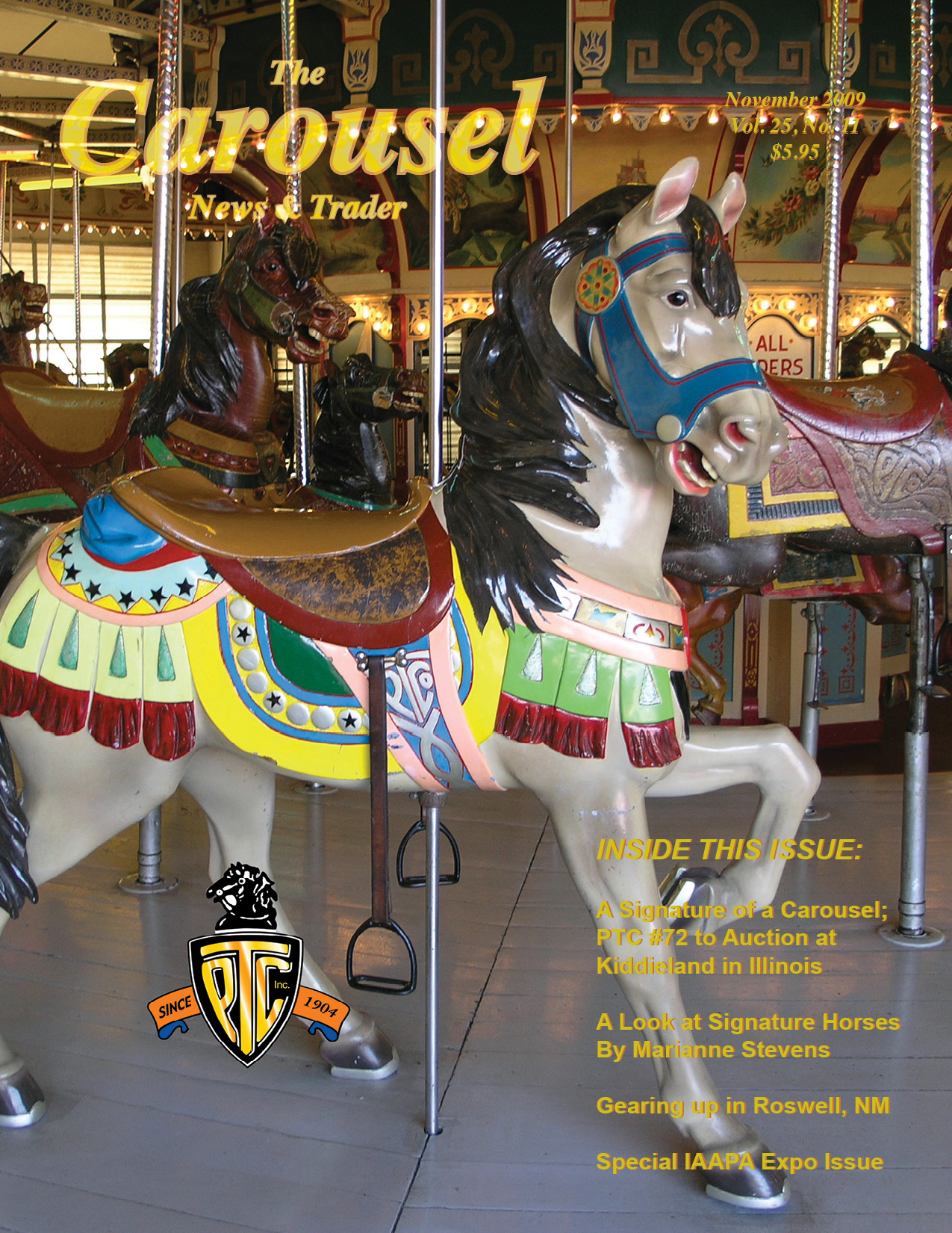 Carousel-news-cover-11-PTC-72-Kiddieland-IL-carousel-November-2009