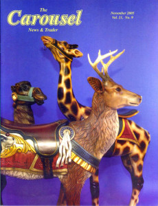 Carousel-news-cover-11_2005-Antique-carousel-giraffe-deer