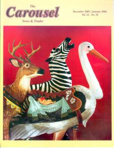 Carousel-news-cover-12_2005-1-06-Carousel-stork-zebra-deer-Henry-Ford-Museum