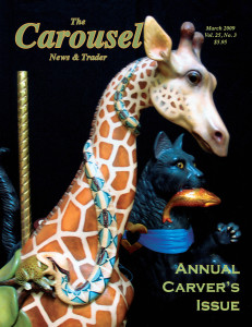 Carousel-news-cover-3-w-P-Wilcox-carousel-carvings-March-2009