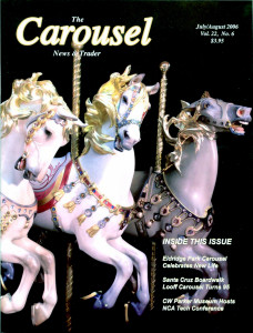 Carousel-news-cover-7_8_2006-Illions-Supreme-carousel-horses-Bill-Manns-photo
