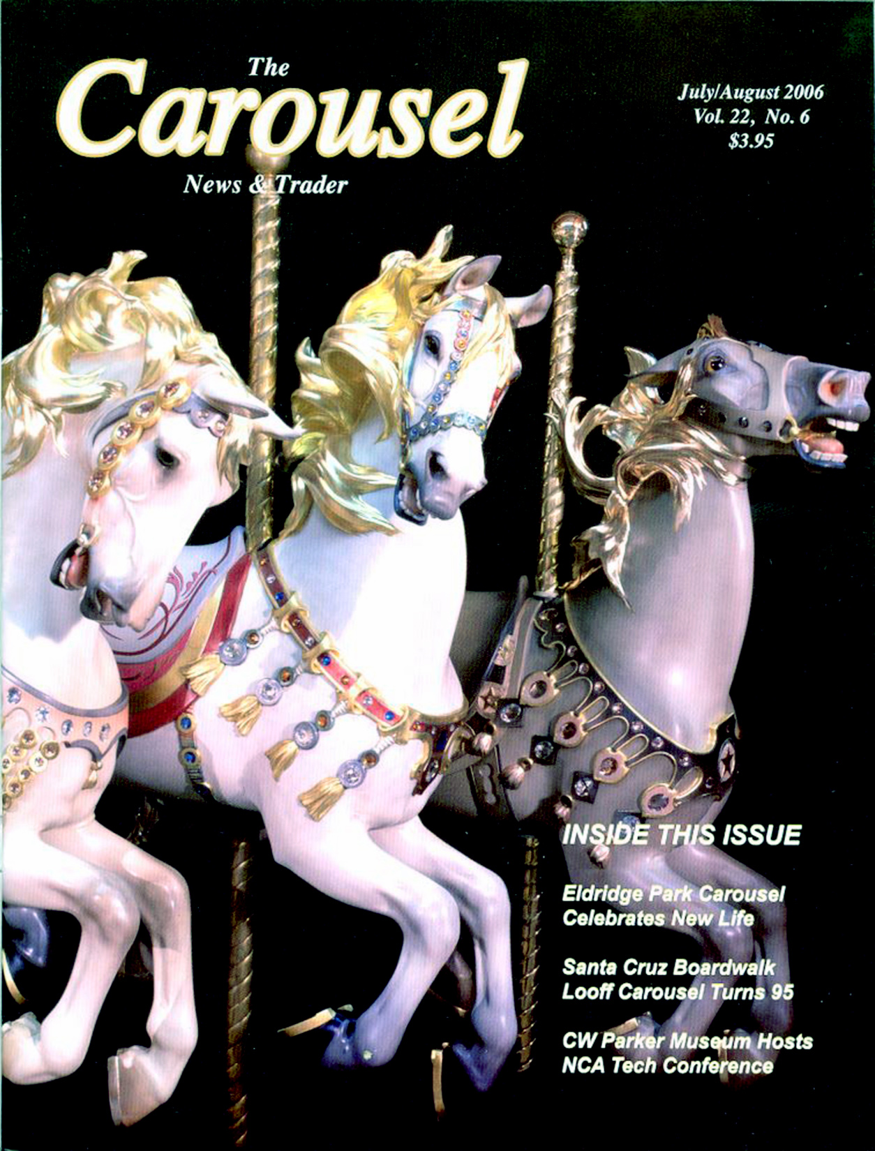 Carousel News Cover 7 8 2006 Illions Supreme Horses