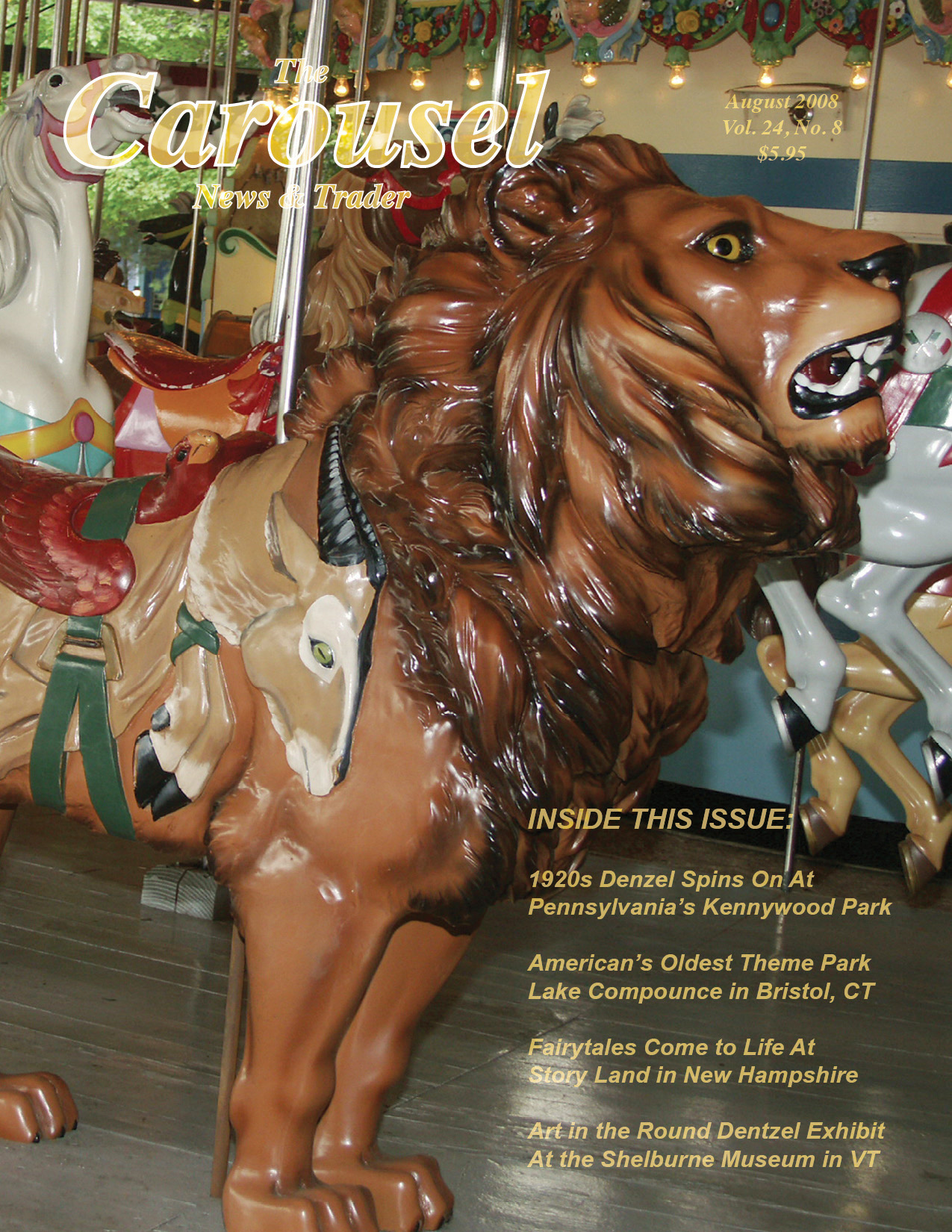 Carousel-news-cover-8-Kennywood-Dentzel-carousel-lion-August-2008