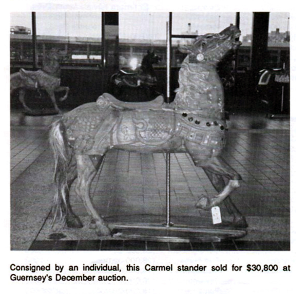Carmel-carousel-horse-30.8-thousand-Dec-88-Gurnseys-auction