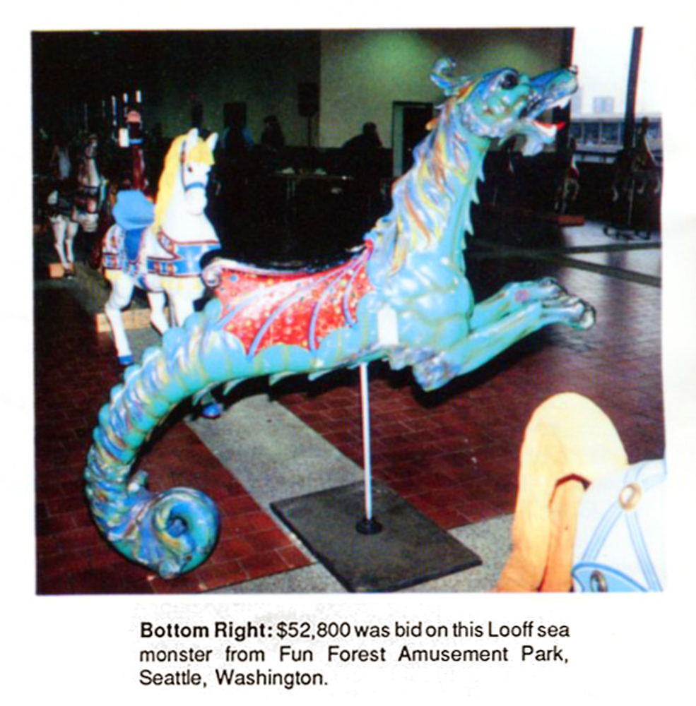 Fun-Forest-Looff-carousel-sea-monster-Dec-88-Gurnseys-auction