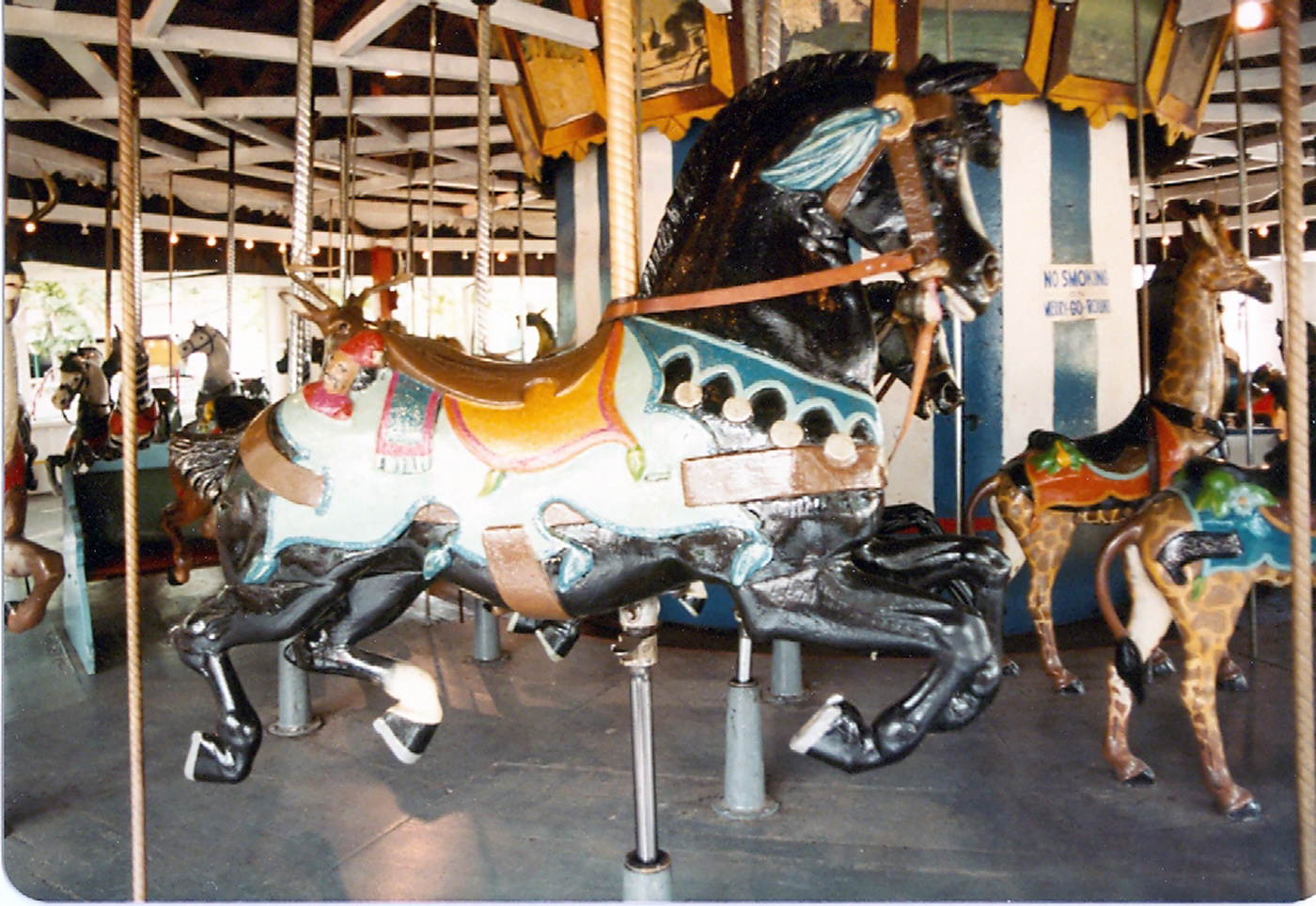 Historic-1902-E-Joy-Morris-Carousel-from-Quassy-Park-CT-Auctioned-1989-050