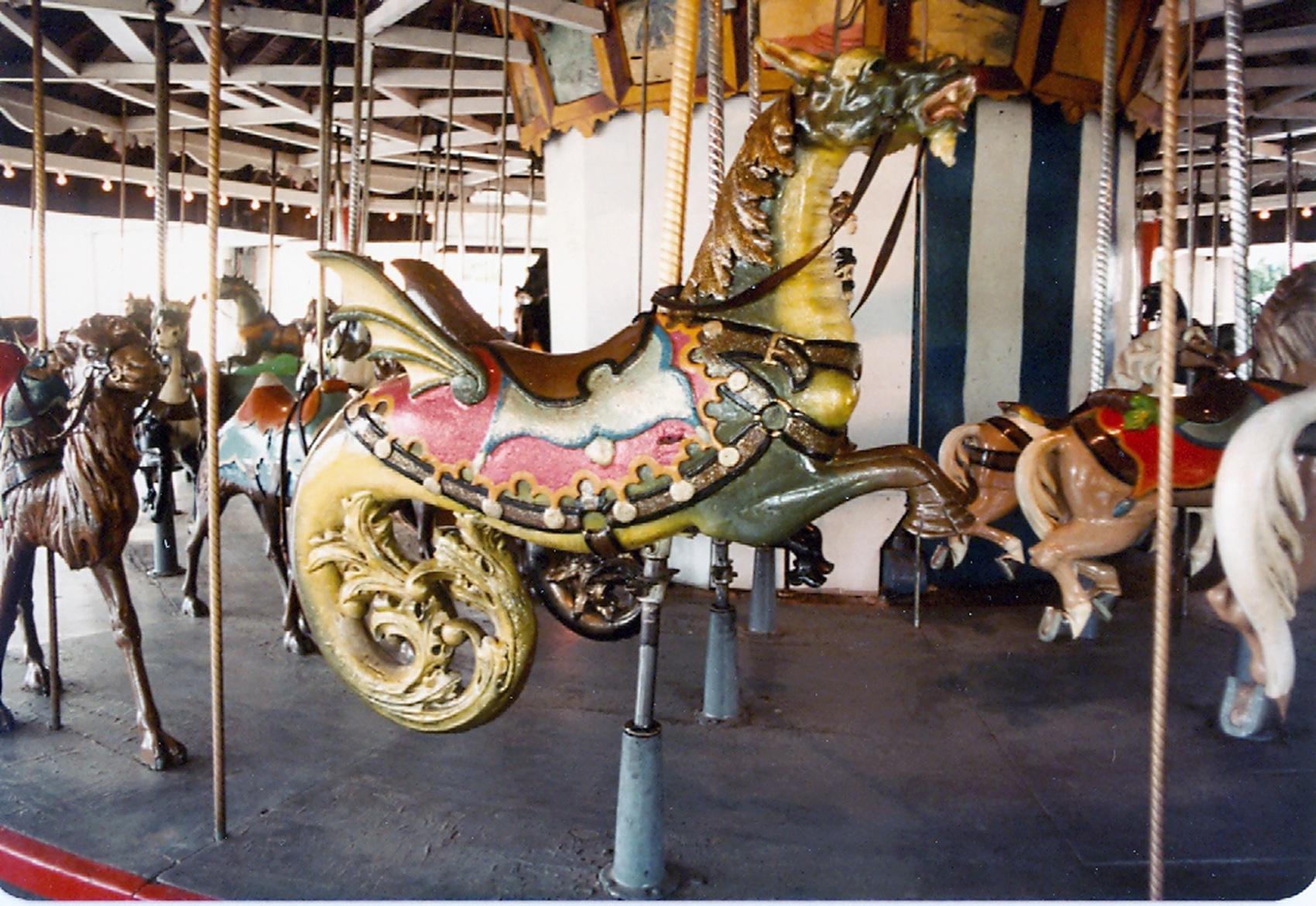 Lake-Quassy-Amusement-Park-E-Joy-Morris-Carousel-Seamonster