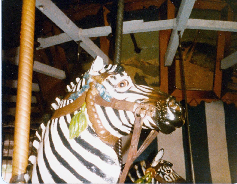 Lake-Quassy-CT-1902-E-Joy-Morris-carousel-zebra