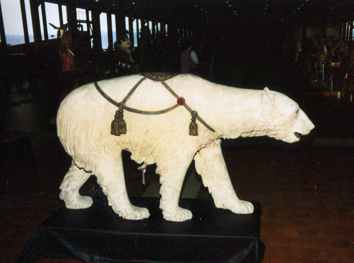 Rare-Allan-Herschell-carousel-polar-bear-NYC-auction-1989a