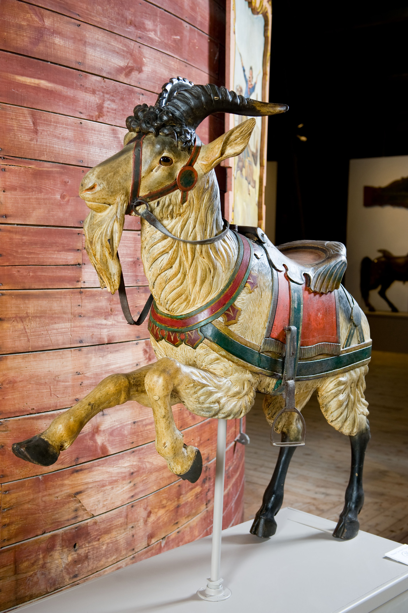 Shelburne-Museum-Original-paint-Dentzel-carousel-goat-head-on