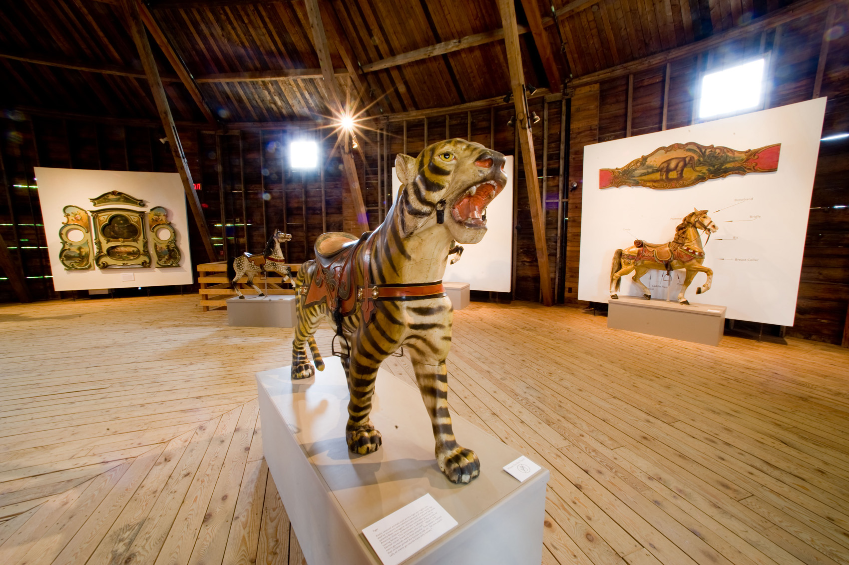Shelburne-Museum-Original-paint-Dentzel-carousel-tiger