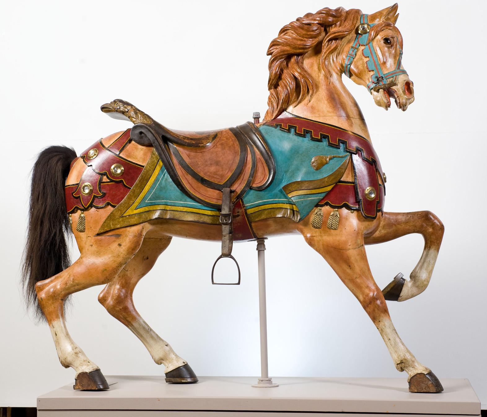 Shelburne-Museum-VT-historic-Ca-1903-Dentzel-carousel-horse