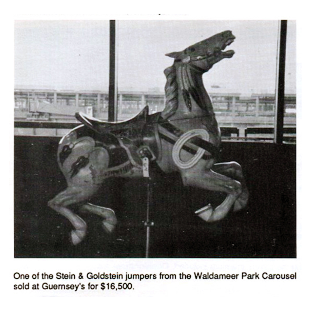 Waldameer-Stein-and-Goldstein-carousel-horse-western-jumper-Dec-88