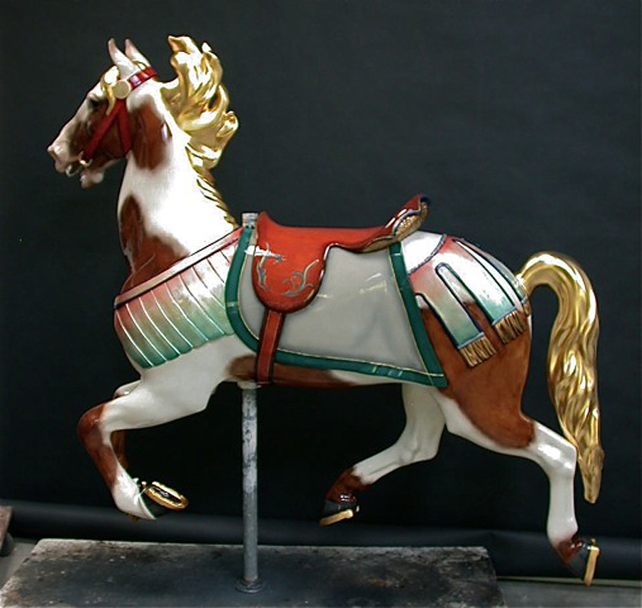 1927-Illions-supreme-carousel-horse-restored-ll-3n