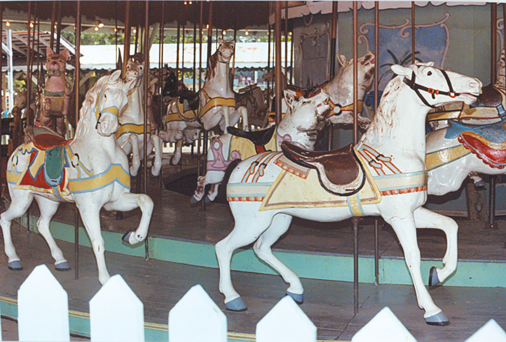 Beech-Bend-park-Dentzel-carousel-horses-Farnsworth-photo