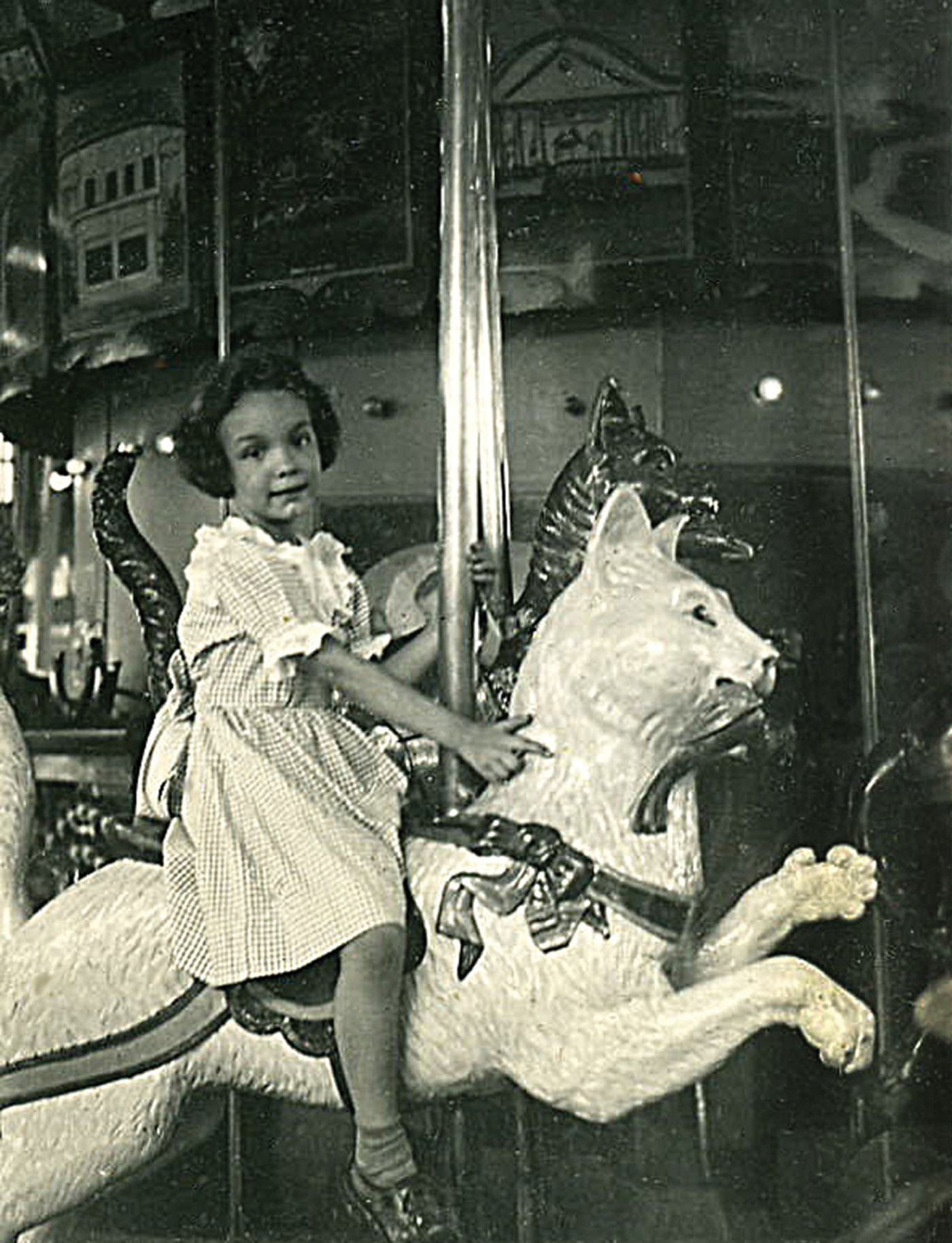 Dentzel-carousel-cat-Tolchester-Park-MD-1950-photo