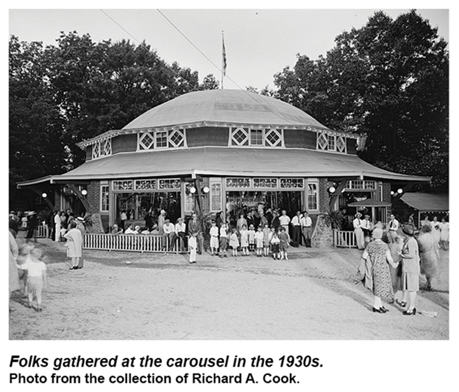 Glen-Echo-Dentzel-carousel-building-R-Cook-1930s