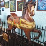 Marianne-Stevens-donated-Dentzel-carousel-horse-Albany-OR