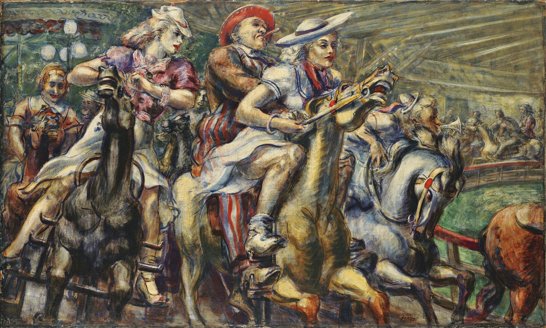 Reginald_Marsh-Wooden_Horses_0