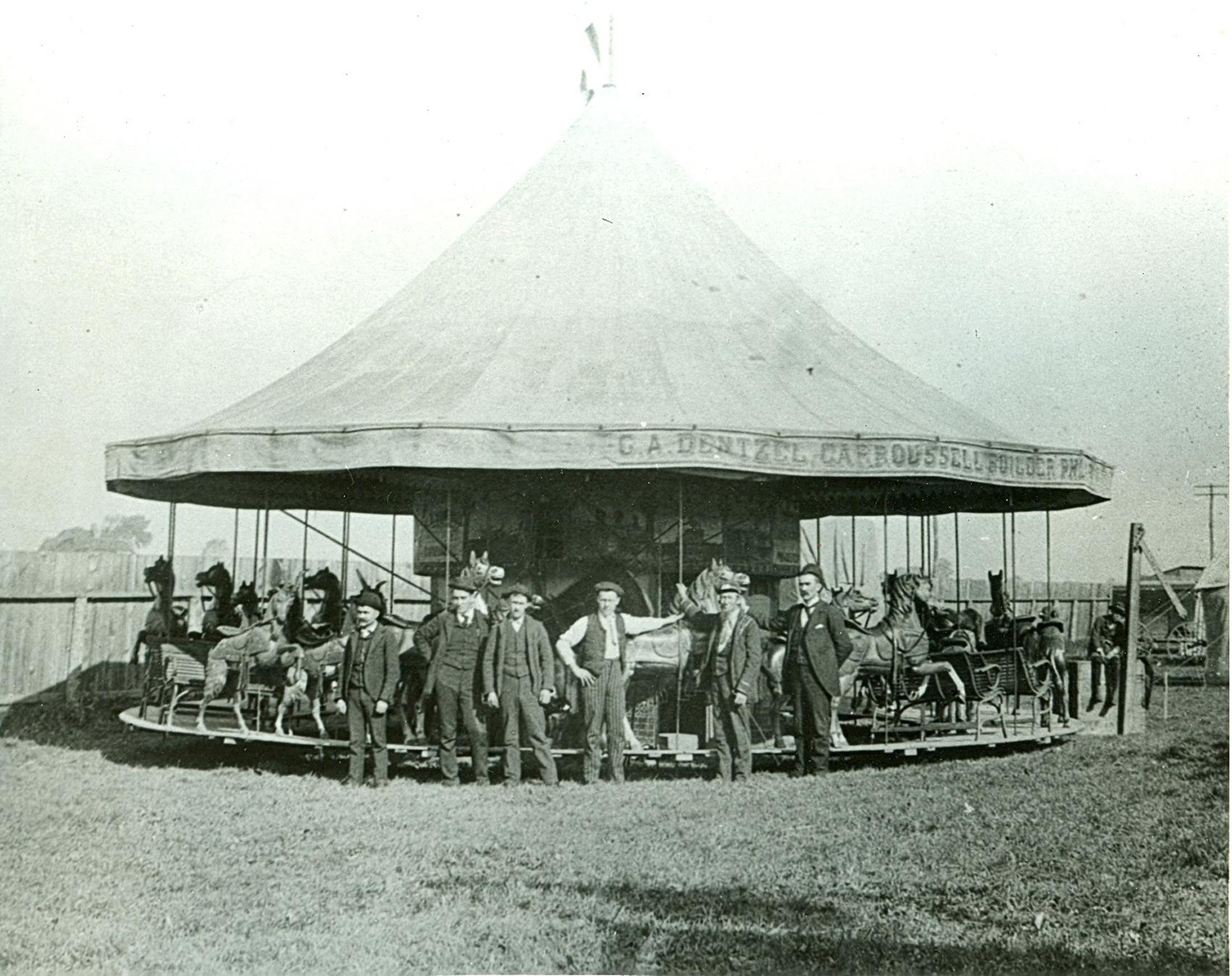 ca-1890-Woodling-Park-Dentzel-carousel