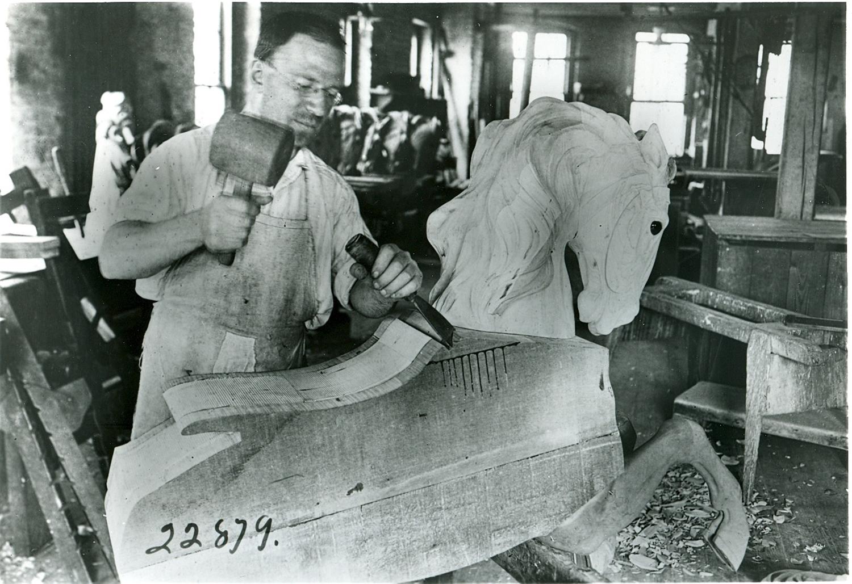 ca-1920-Dentzel-carousel-master-carver-Salvatore-Chernigliaro