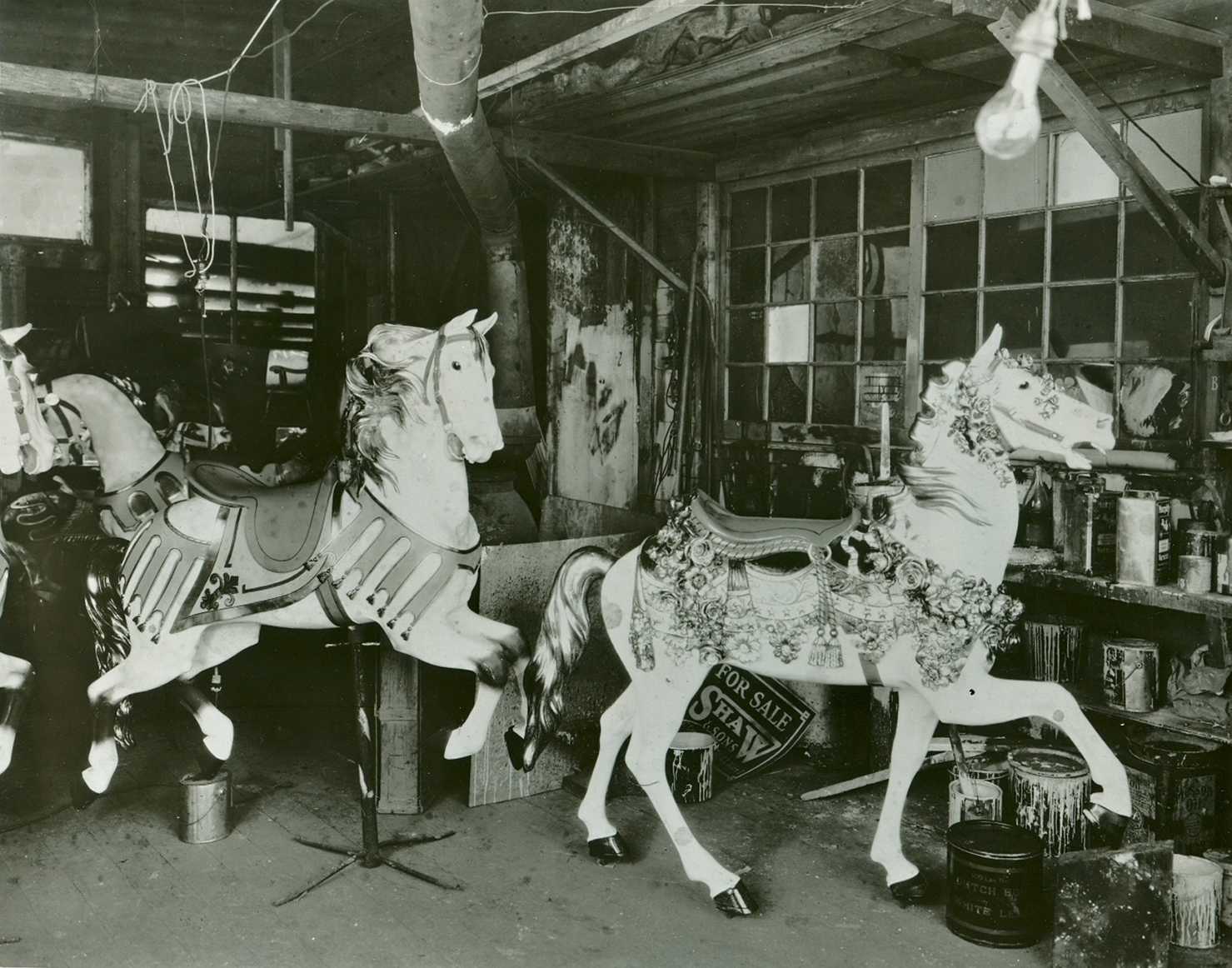 ca-1925-Illions-carousel-carving-shop-rose-horse