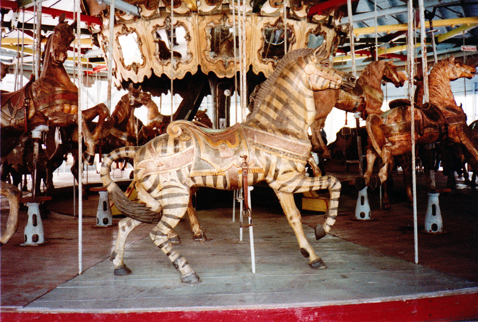 1896-Brookside-Park-PA-Dentzel-carousel-zebra