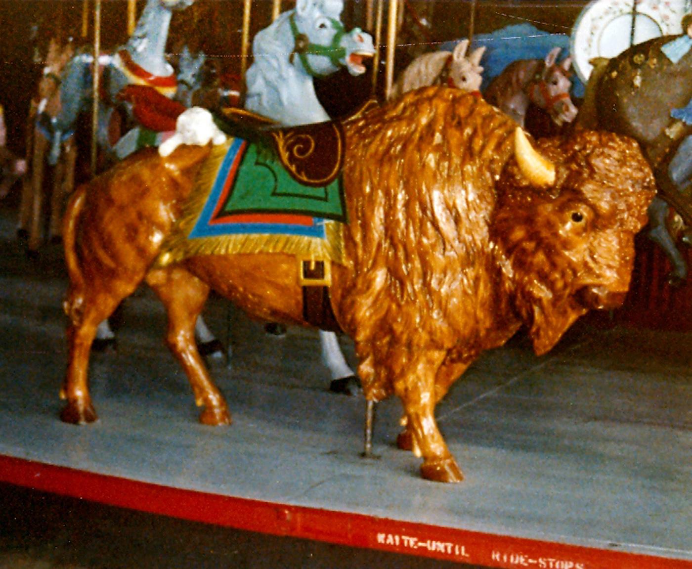 Buff-Bison-Salem-Willows-MA-1905-Looff-carousel
