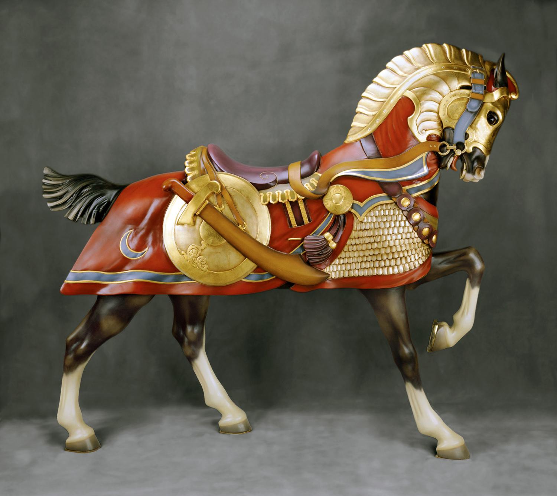 Ca-1905-Conneaut-Muller-armored-carousel-horse-Daniel-Collection